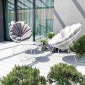 🌿 ANTRACITE ar LIGHT GREY? Baltą lauko baldų komplektą bei pagalvėles rasite mūsų el.parduotuvėje  www.Floaty.lt  #terrace#nordic#madeinlt#stilingaterasa#terasa#interjeras#laukobaldai